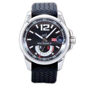 Nouveau Meilleure édition Miglia GT XL 168457-3001 Boîtier en acier Réserve de puissance réelle Cadran noir ETA A2824-2 Montre homme noire Bracelet en caoutchouc FK01