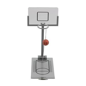 Basketball Hoop Mini bureau pliant Basketball Machine Soulagement du stress Creative Petit rebond