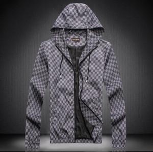 2020 Men Jackets Long Sleeve Zipper Jacket Fashion Pattern Print Slim Fit Windbreaker Mens Antumn Winter Louìs Vuìttõn Outdoorwear Coats