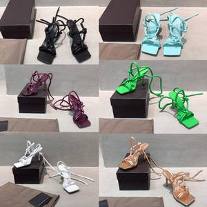 Женская обувь на высоких каблуках открытые дизайнерские шлепанцы кожаные босоножки с ремешками туфли на высоком каблуке модные роскошные женские дизайнерские сандалии