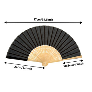 12 Pack Handheld Fan Silk Bamboo Folding Fan Handheld Folding Fan For Church Wedding Gift Party Diy Decoration Other Home Decor