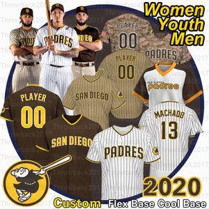 2020 Temporada San Diego Jersey Fernando Tatis Jr 23 Manny Machado 13 Tony Gwynn Eric Hosmer Brown Is Voltar Jerseys