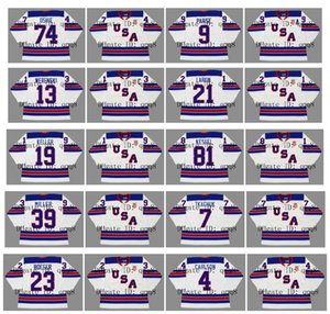 2010 2014 2016 Vintage Team USA Jersey 74 TJ OSHIE 88 PATRICK KANE 9 ZACH PARISE 13 WERENSKI 21 DYLAN LARKIN 8 JOE PAVELSKI Hockey su misura