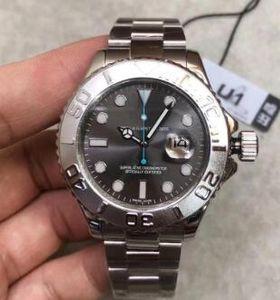 2019 Мужские часы Серый циферблат из нержавеющей стали ремешок автоматические механические движения 116622 40мм Мужская мода Часы