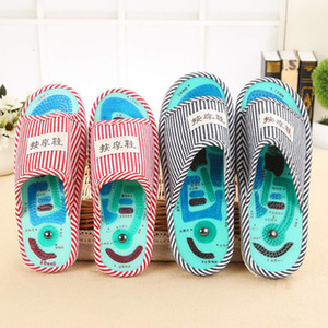 1 Pair ssential Health Care Taichi Acupuncture Massage Slippers High Quality Men's Foot Massage Slippers with Magnet Home Shoes