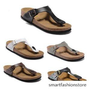 Mayari Arizona Gizeh 2020 designer de chinelos de verão Homens Mulheres apartamentos sandálias chinelos Cork imprimir Praia sandálias lâminas de peles mistas 34-46