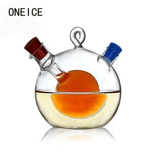 Wholesale- Free Shipping Multipurpose Large Kitchen Seasoning Bottle Green Glass Oiler oil can leak oil vinegar sauce bottle High Quality