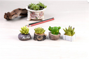공예 미니 시뮬레이션 수지 다육 식물 모델 정원 미니어처 화분은 장식 홈 인테리어 식물
