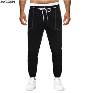 KLV pants Men Pocket Pure Color Overalls Casual Pocket Sport Work Casual Trouser Pants hot sale for all season high quality 9701