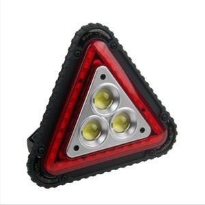 أحدث حركة السيارات الفشل تحذير الخفيفة خيمة المحمولة التخييم مصباح تسليط الضوء على USB شحن COB العمل Lanternas الكشاف العملي