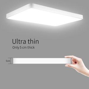 48W ultra-delgada de techo cuadrado LED de luz moderna lámpara de techo Iluminación de interior del accesorio de baño Cocina Living Home