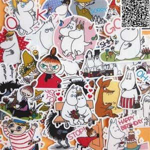 Telefon rehberinden Home dekor için 30 adet Karikatür at ve sahibi çıkartmaları dizüstü etiket macbook çıkartma buzdolabı kaykay doodle oyuncak