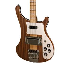 NOVO Ric 4003W Natural Walnut Baixo TRANSLÚCIDO RARE WALNUT vintage 4003 Guitarra baixa elétrica Neck Thru Corpo Um PC Neck corpo