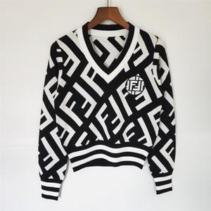 2020 роскошь дизайнер женщин свитер женщин длинный рукав кардиган свитер воротник дамы больших размеров женской одежды женщин пуловер