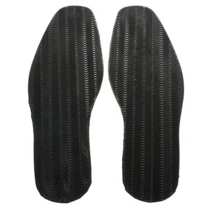 1 par Anti Slip Thicken Suave Heel Repair Rubber Shoe Soles Kit DIY substituição Elastic Vara plana On Protector sola