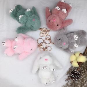 Kawaii New Arrival Cute Soft Fluffy Rabbit Stuffed Plush Animal Bunny Toy Fashion Doll For Baby Girl Kid Gift Animal Doll Keychain new