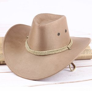 Western Hats & Caps Hats, Scarves & Gloves Cowboy Hat Men Riding Cap Fashion Accessory Wide Brimmed Crushable Crimping Gift KSshipping