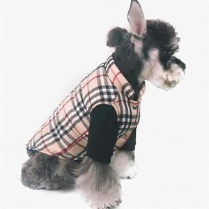 Trendy Stripe Motif Animaux Manteaux Mode Thicken Designer Animaux Vestes d'hiver personnalité charme Costumes Schnauzer Vêtements