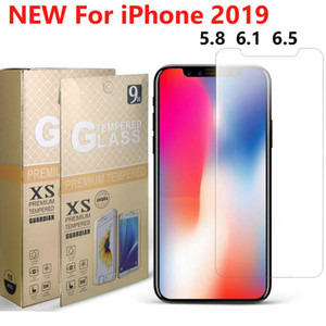 NOVO vidro temperado protetor de tela do telefone para o iPhone de 11 XS X XR XS-MAX IPHONE 5 6 7 8 Plus 6s 2019 Samsung A10 A10E A20 NÚCLEO A20E A30 A40