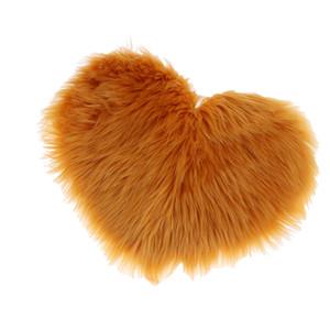 Faux lana Tappeto peluche Fluffy copertura della sedia scendiletto Carpet Tappetino Tappeti, a forma di cuore