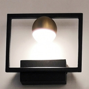 Lamplo Modern 4W minimalista Globe Lâmpada LED Wall Nordic Whitr Acrílico Preto Bronze Wall Light de cabeceira luz do quarto Office Decor