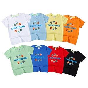 20SS высокое качество Baby и KidsT-shirt дизайнер роскошная хлопчатобумажная футболка мода 100%хлопок с коротким рукавом повседневная футболка оптовая цена u171123