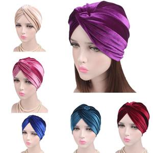Neue muslimische Frauen Hijabs Kappen Velvet Kreuz Islamische Turban Dreadlock Schlaf Hut für Haarausfall Hat Bonnet Rohr Komfortabler