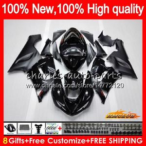 negro cuerpo para Kawasaki ZX 6R ZX600 600cc 6R ZX636 05 06 35HC.0 ZX636 600 CC ZX6R 05 06 ZX600 ZX 636 ZX6R 2005 2006 carenado kit de fábrica