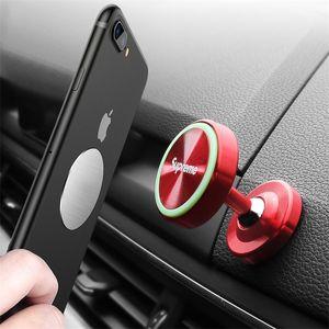 Suministros de coches de moda Mini Soporte telefónico Soporte magnético noctilucentes 360 ° Titular fuerte adsorción Fit todo el teléfono