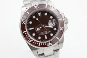 Sub nuevo U1 hombres automático de alta calidad real de acero refinado 40 mm reloj de cerámica anillo de zafiro superficie plegable botón
