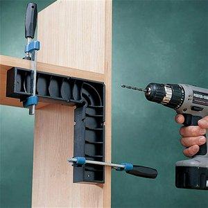 2pcs 146mm 90 Forma Grado de plástico en L ángulo recto Posicionamiento bloque de esquina de sujeción plaza derecho Regla de carpintero fijo abrazadera