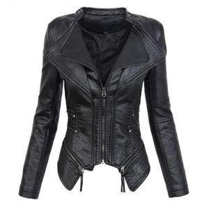 Plus size 3xl leather jackets women 2019 autumn winter fashion motorcycle mandarin collar pu leather jackets female outwear coat