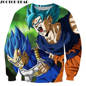 소년 No Caps Streetwear 라운드 넥 남자 긴 소매 스웨터 DragonBall Pullovers 3D 프린트 캐주얼