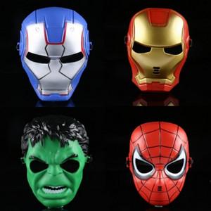 Hotsale superhéroe niños Máscara The Avengers Spiderman Batman Hulk Ironman máscara máscaras de cara completa de la película temáticas para Halloween