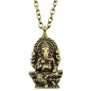 Grande Elefante Ganesha Pendente Della Collana Grande Elefante Ganesha Collana Dell'Annata Collane Delle Donne Accessori