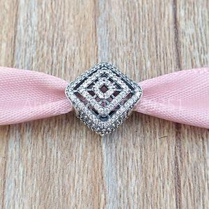 Auténticos de los granos de plata de ley 925 Geometrik Líneas encanto, encantos CZ clara se adapta al estilo europeo joyería de Pandora collar de las pulseras 796211CZ