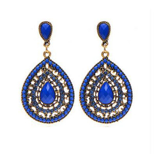 famous designer Earrings Europe and the United States original single ear drop bohemian full of diamonds earrings for Valentine's day gift
