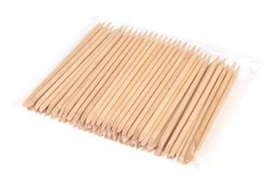 Vôsaidi 100Pcs Nail Stick Nail Art Arancione Stick legno Spingipelle di rimozione del manicure Pedicure a Natural Nail