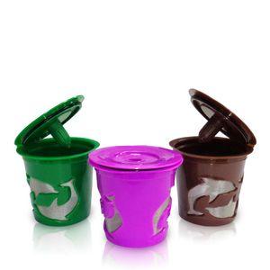 Nahrungsmittelgrad-Plastikkaffeesieb-wiederverwendbare Tropfenfänger-Schale multi Farben-Kaffee-Kapsel-Delphin-Schalen-Filter-Fall 2 9hr L1