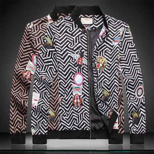 Fashion designer Jacket Windbreaker Long Sleeve Mens Jackets Hoodie Clothing Zipper with Animal Letter Pattern Plus Size Clothes M-3XL