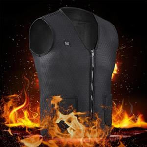 الرجال USB شحن كهربائية حرارية الصدرية الدافئة كهربائية حرارية الصدرية سترة الملابس الحراري USB في الهواء الطلق ركوب الخيل التزلج الصيد