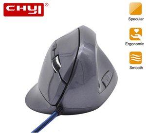 CHYI Souris filaire ergonomique verticale 800-1000-1200-1600DPI 5 touches souris de jeu USB avec tapis de souris Kit repose-poignets Tapis pour PC portable T191211