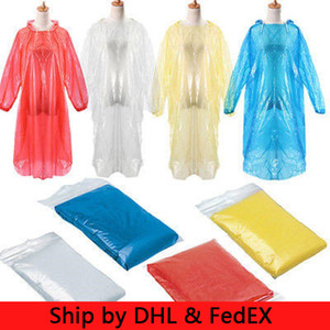 Unisex descartável Raincoat Adulto emergência impermeável capa exterior Poncho Viagem Camping Caminhadas Individual Raincoat colorido Rainwear One-time