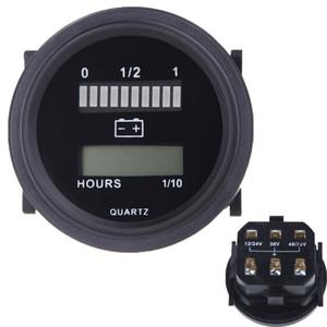 Freeshipping DC 12V / 24V / 36V / 48V / 72V LED-Digital-Batteriestatus-Ladeanzeige mit Betriebsstundenzähler-Messgerät für Auto-LKW-Boot