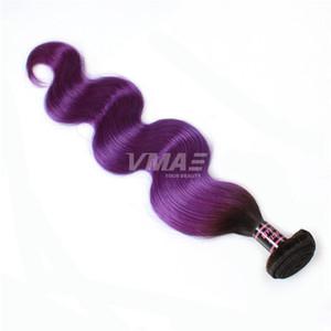 VMAE 1B البنفسج البرازيلي الشعر أومبير اثنين من لهجة اللون العذراء الإنسان الشعر مل 3pcs جسم موجة أومبير nches شعر إنساني إمتداد