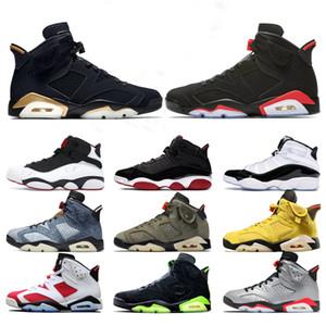 2020 Denim 6 hommes Washed Chaussures de basket Six anneaux Bred Concord Noir PSG Réflexion Infrarouge Mens Sport Sneakers Drop Shipping