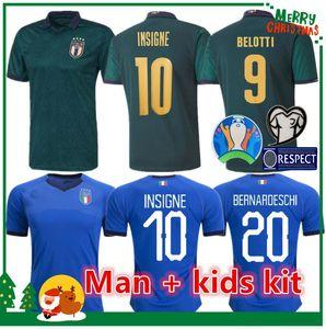 MAN 2019 2020 ITALY soccer Jersey 19 20 green away JORGINHO EL SHAARAWY BONUCCI INSIGNE BERNARDESCHI FOOTBALL SHIRTS