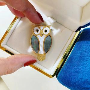 Fashion-2020 della serie dal design di lusso di lusso spilla gufo animali accessori di moda per le donne spilla Confezione regalo Ulteriori