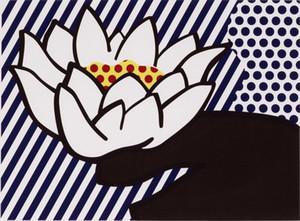 Roy Lichtenstein Seerose Hauptdekor handgemaltes HD-Druck-Ölgemälde auf Leinwand-Wand-Kunst-Leinwandbilder 191116