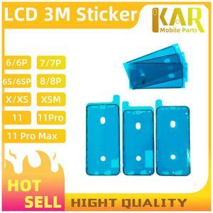 높은 품질 방수 스티커 아이폰 6 세대 6S 7 7 세대 8 세대 X XS 11 11 PRO LCD 화면 테이프 3M 접착제 접착제 수리 부품 무료 배송
